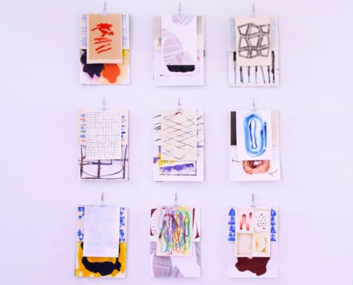 Künstlerstipendipendiat Matthias Frenzel Arbeiten - Farben-Collagen