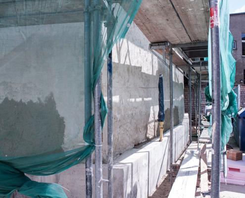 Bild Ansicht Remise - Betonsockel zur Sicherung 2019