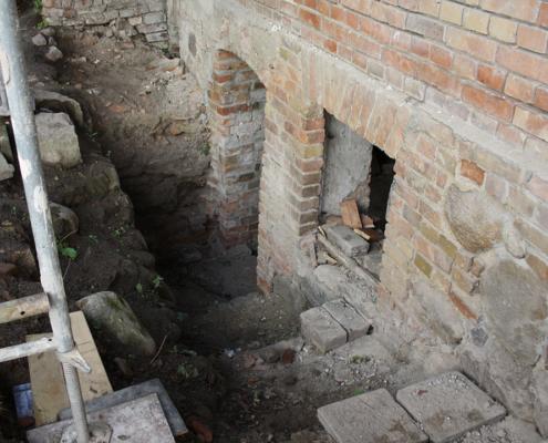 Bild Ansicht Remise - freigelegter Keller