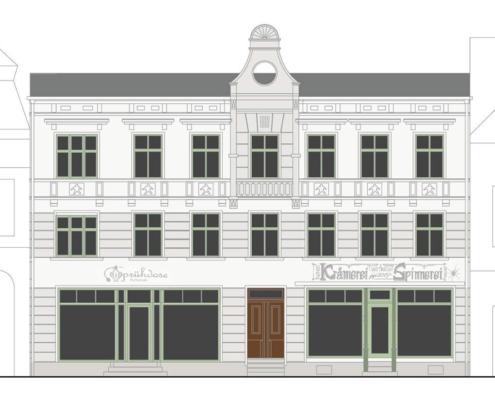 Bild - Rekonstruktion der ursprünglichen Stuckfassade