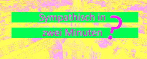 Logo Sympathisch in zwei Minuten